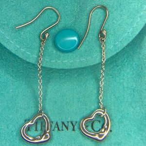 Open Heart Drop Dangle Earrings